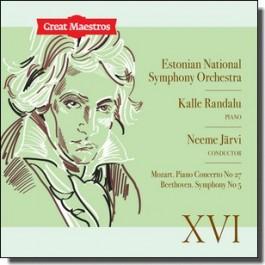 Great Maestros XVI: Mozart. Piano Concerto No 27 | Beethoven. Symphony No 5 [CD]