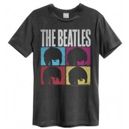 Beatles Hard Days Night Amplified Vintage Charcoal Small T Shirt