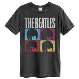 Beatles Hard Days Night Amplified Vintage Charcoal Large T Shirt