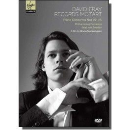 David Fray Records Mozart: Piano Concertos Nos. 22 & 25 [DVD]