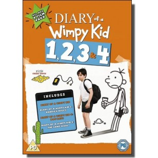 Diary of a Wimpy Kid 1, 2, 3 & 4 [DVD]