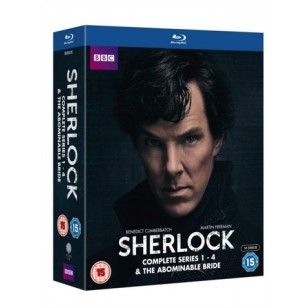 Sherlock: Complete Series 1-4 & The Abominable Bride [10xBlu-ray]