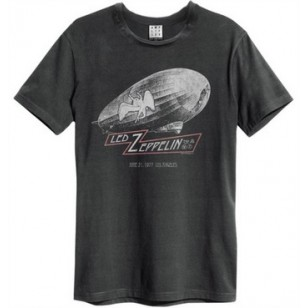 Led Zep Dazed Confused Amplified Vintage Charcoal Small T Shirt