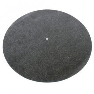 Tonar Black natural leather turntable mat