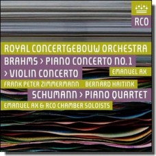 Brahms: Violin Concerto & Piano Concerto 1 / Schumann: Piano Quartet [CD]