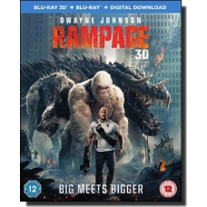 Rampage: Big Meets Bigger [2D+3D+Blu-ray+DL]