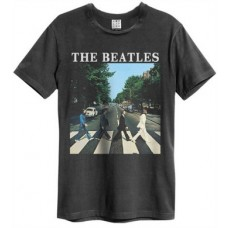 Beatles Abbey Road Amplified Vintage Charcoal Small T Shirt
