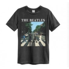 Beatles Abbey Road Amplified Vintage Charcoal XX Large T Shirt