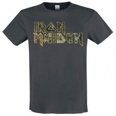 Eddies Logo Amplified Vintage Charcoal Large T Shirt
