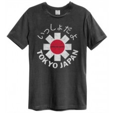 Tokyo Japan Amplified Vintage Charcoal Large T Shirt