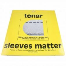 """Tonar Nostatic HDPE 12"""" Vinyl Inner Record Sleeves (40μm, pack of 50)"""
